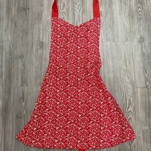 Hand crafted red apron